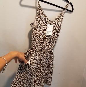 Women leopard  romper